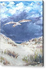 Cloudy With A Chance Of Seagulls Acrylic Print by Jack Skinner