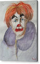 Clown School Acrylic Print by Betty Pimm