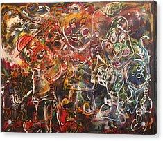 Clowning Around Acrylic Print by Shadrach Ensor