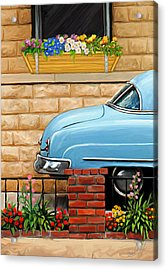 Clunker In The Garden Acrylic Print by David Kyte