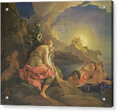 Clytie Transformed Into A Sunflower Acrylic Print by Charles de Lafosse