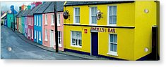 Co Cork, Eyeries Village In The Rain Acrylic Print by The Irish Image Collection