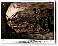 Coal Mine Explosion, 1884 Acrylic Print by Granger
