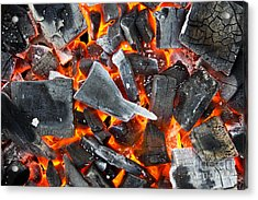 Coals In The Fire Acrylic Print by Mongkol Chakritthakool