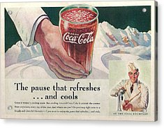 Coca Cola 1937 Acrylic Print by Georgia Fowler