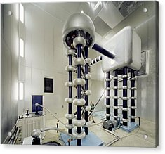 Cockroft-walton Generator, Fermilab Acrylic Print by David Parker