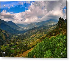Cocora Valley Acrylic Print by Skip Hunt