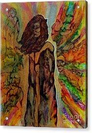 Cold Shoulder Acrylic Print by Linda May Jones