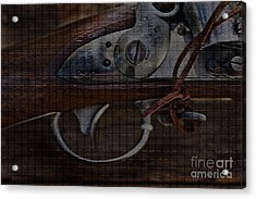Cold Steel Acrylic Print by Kim Henderson