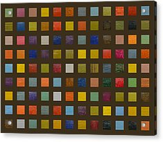 Collage Color Study Lll Acrylic Print by Michelle Calkins