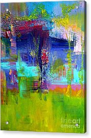 Color Blocks Acrylic Print by Claire Bull