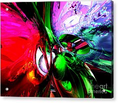 Color Carnival Abstract Acrylic Print by Alexander Butler