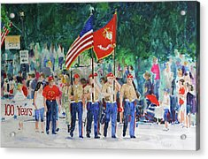 Color Guard Acrylic Print by William Tockes