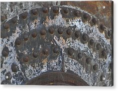Color Of Steel 7a Acrylic Print by Fran Riley