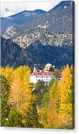 Colorado Estes Park Stanly Hotel Autumn View Acrylic Print by James BO  Insogna
