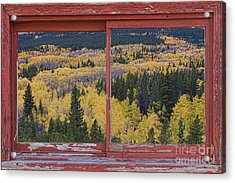 Colorado Red Rustic Picture Window Frame Photo Art Acrylic Print by James BO  Insogna