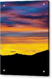 Colorado Sunrise -vertical Acrylic Print by Beth Riser