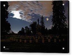 Colorado Volunteers Under The Full Moon Acrylic Print by Stephen  Johnson