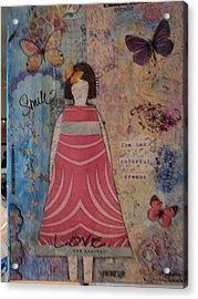Colorful Dreams  Acrylic Print by Anne-Elizabeth Whiteway