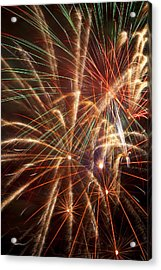 Colorful Fireworks Acrylic Print by Garry Gay