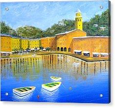 Colorful Reflections Of Portofino Acrylic Print by Larry Cirigliano