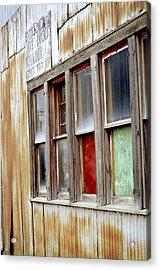 Colorful Windows Acrylic Print by Fran Riley
