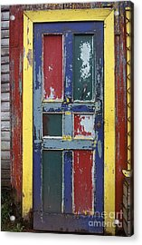 Colorful Wooden Door Acrylic Print by Will & Deni McIntyre