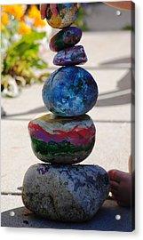 Colorful Zen II Acrylic Print by Evelina Popilian