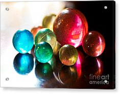 Colors Of Life Acrylic Print by Syed Aqueel
