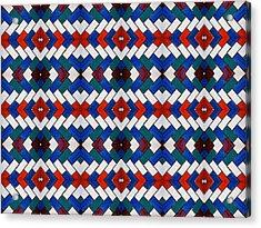 Colourful Tile Symmetry Acrylic Print by Hakon Soreide
