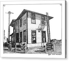 Columbus New Mexico  Acrylic Print by Jack Pumphrey