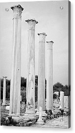 Columns In The Central Courtyard And Stoa Gymnasium And Baths In The Ancient Site Of Salamis Acrylic Print by Joe Fox
