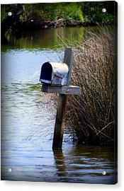 Come Rain Or Shine Or Boat Acrylic Print by Karen Wiles