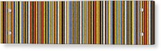 Comfortable Stripes Vlll Acrylic Print by Michelle Calkins