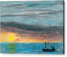 Companions Of The Fishermen Acrylic Print by R Kyllo