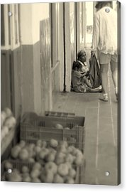 Compassion For The Poor Acrylic Print by Cindy Wright