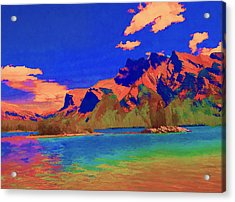 Complementary Mountains Acrylic Print by Jo-Anne Gazo-McKim