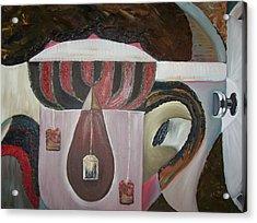 Components Of Tea Acrylic Print by Nada Al-Ghussain