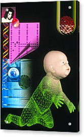 Computer Artwork Depicting Genetic Screening Acrylic Print by Laguna Design