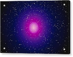 Computer Graphic Image Of A Galaxy Acrylic Print by Stocktrek