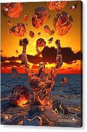 Conceptual Image Based On The Biblical Acrylic Print by Mark Stevenson