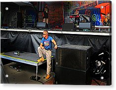 Concert Security Guy Acrylic Print by Ric Soulen