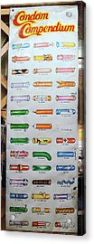 Condom Compendium Sign Thaiiland Acrylic Print by Sally Weigand