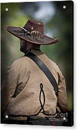 Confederate Cavalry Soldier Acrylic Print by Kim Henderson