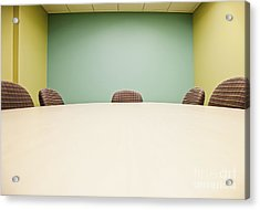 Conference Room Table And Chairs Acrylic Print by Jetta Productions, Inc