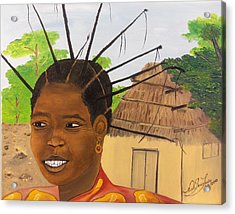 Congolese Woman Acrylic Print by Nicole Jean-Louis