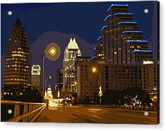 Congress Street Bridge Color 16 Acrylic Print by Scott Kelley