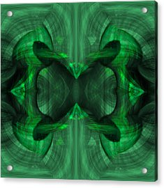 Conjoint - Emerald Acrylic Print by Christopher Gaston