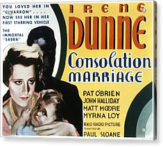 Consolation Marriage, Irene Dunne Acrylic Print by Everett