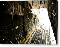 Container Delivery System Bundles Drop Acrylic Print by Stocktrek Images